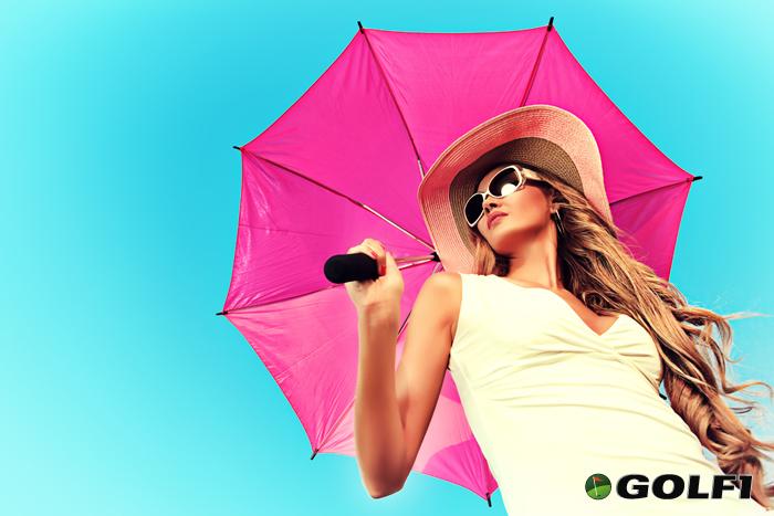 Schirm und Hut schützen vor der Sonne © prometeus / depositphotos