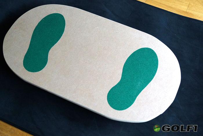 Bereit zum Training: So sieht das fertige Balance Board aus © GOLFSTUN.DE