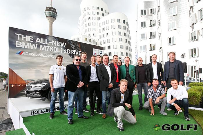 (Golf-)Prominenz am Dienstag vor Turnierbeginn in Düsseldorf © BMW AG
