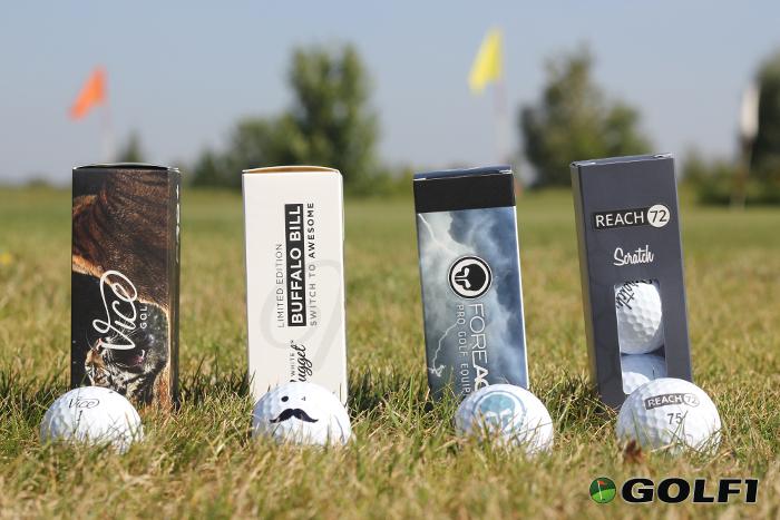 Machen auf dem Platz eine gute Figur: Vice Golf, White Nugget, FOREACE und REACH72 © jfx / golf1