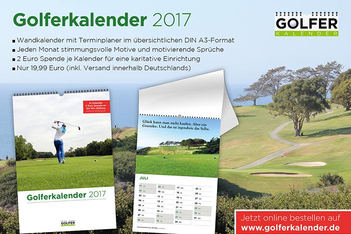 Monat für Monat Golf-Motive und -Sprüche © golferkalender.de