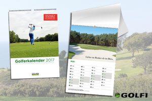 Golferkalender: Der Wandkalender für Golfspieler © golferkalender.de