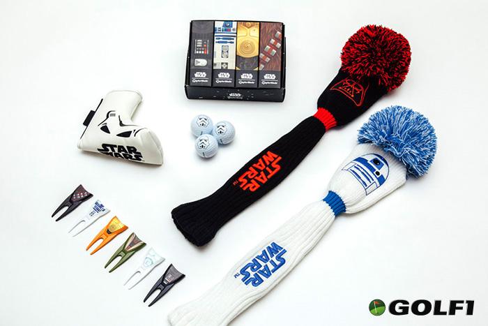 Golfbälle, Picthgabeln und Schlägerhauben mit Star Wars Motiven © lucasfilm ltd. / taylormade
