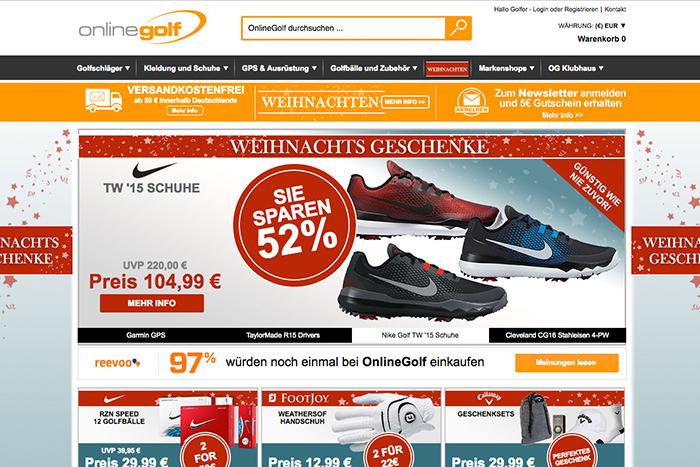 Golf-Artikel und -Schnäppchen findest Du im Onlinegolf Shop © onlinegolf