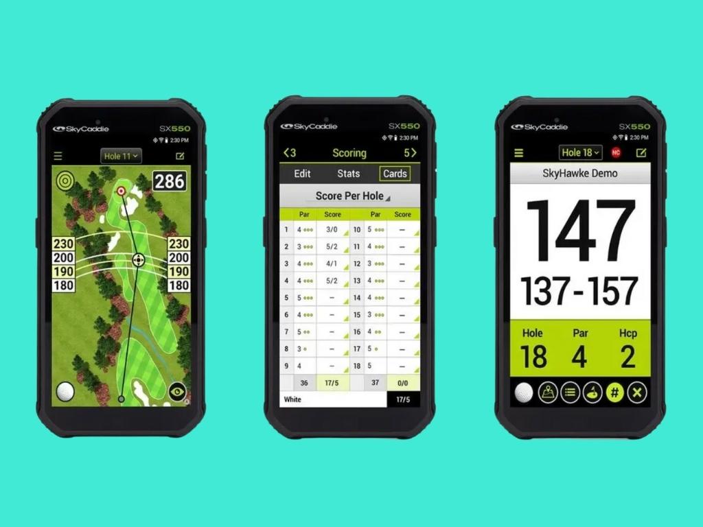 SkyCaddie SX550 GPS für Golfer