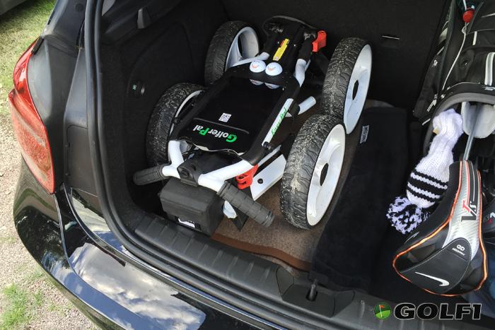 GolferPal im Auto