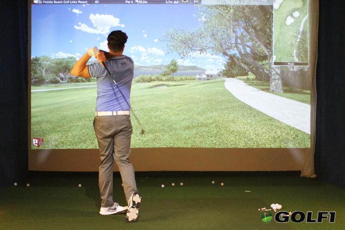 Golftraining in der Golflounge Ahrenshoop