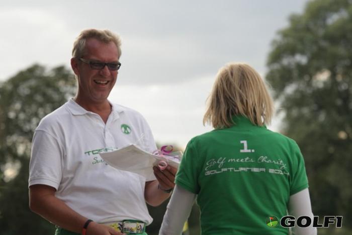 Siegerehrung Golf meets Charity Turnier