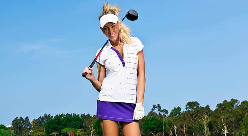 Golferin mit Visor