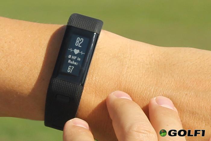 Das Wearable zeigt die aktuelle Herzfrequenz an, im Vergleich dazu die Frequenz in Ruhe © jfx