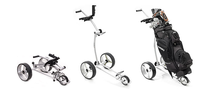 caddyone 100 design golf trolley 3 rad push trolley im test. Black Bedroom Furniture Sets. Home Design Ideas