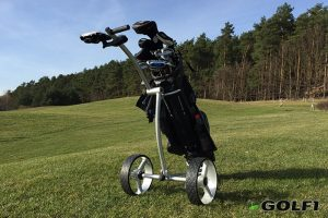 Ahowa Gmbh Elektro Trolleys.Caddyone 100 Design Golf Trolley 3 Rad Push Trolley Im Test