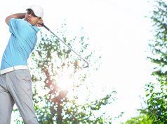 Golfschwung Übertreibung