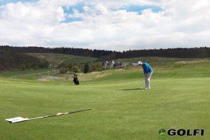 Golfspieler auf dem Grün in Georgenthal