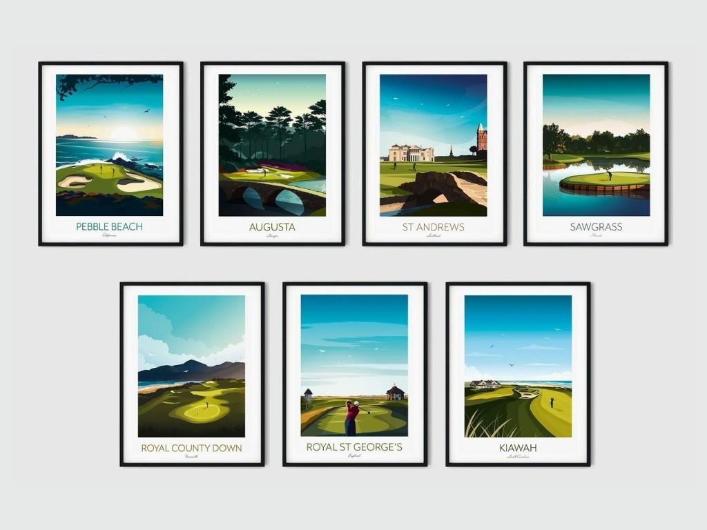 Golfplätze für die Wand