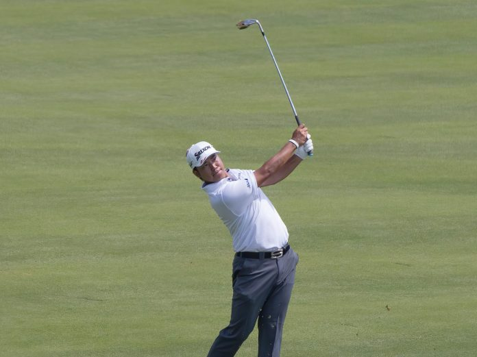 Hideki Matsuyama bei Golfschwung