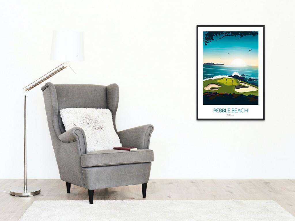 Pebble Beach Print