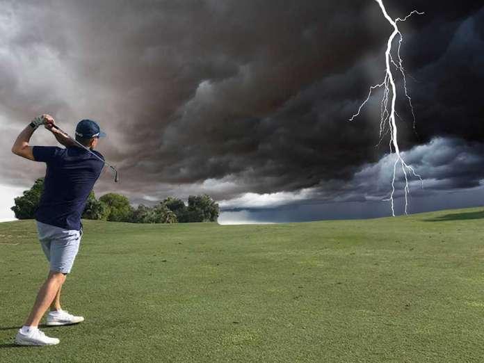 Golf bei Gewitter