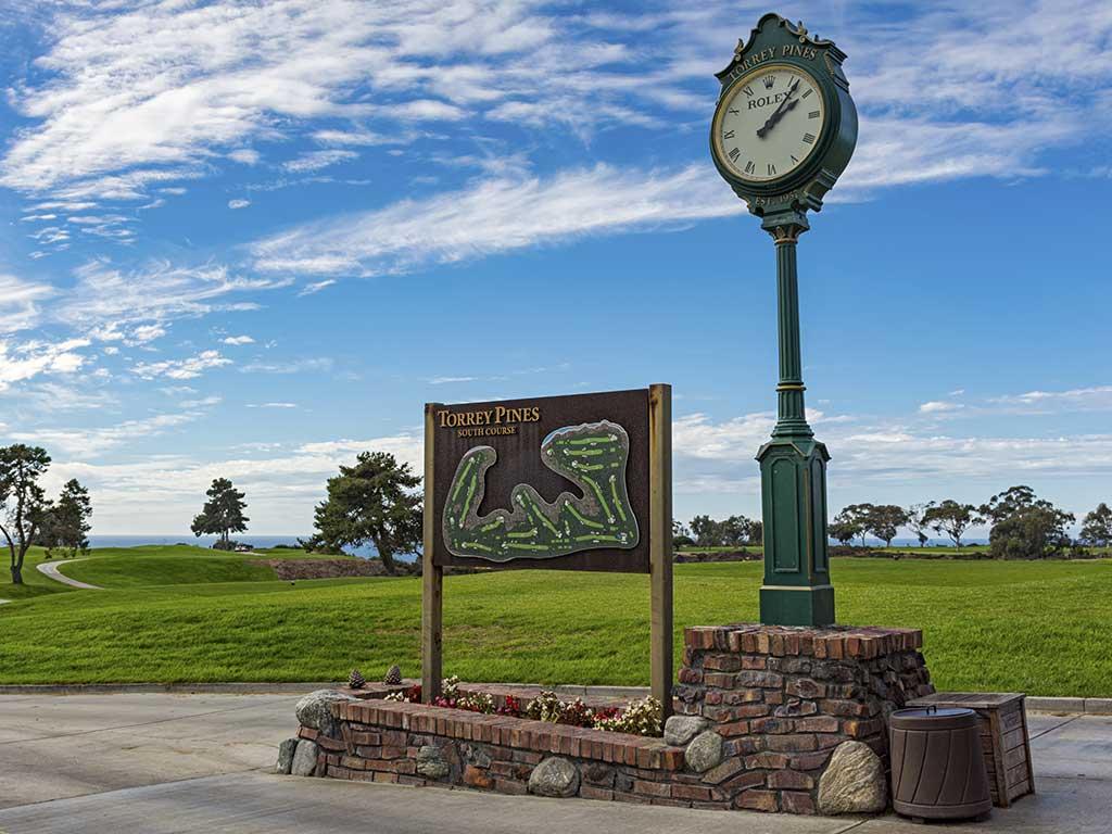 Golfplatz Uhr